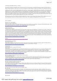 CAABU Daily Broadsheet Summary - 25/07/06 The people of ...