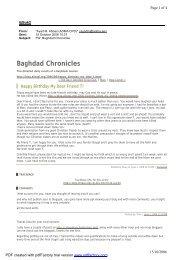 Baghdad Chronicles