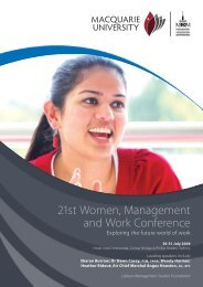 21st Women, Management and Work Conference - CCH Australia
