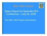 Eller DNA Project - Eller Family Association
