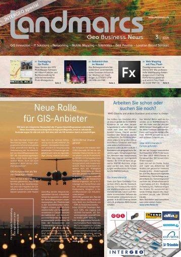 Neue Rolle für GIS-Anbieter - landmarcs