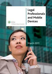 Legal Professionals and Mobile Devices - CCH Australia