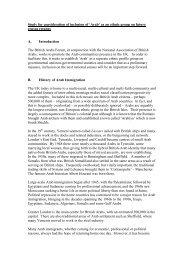 Arab Ethnic Profile Study 2004. NABA, Dr Ismail Jalili