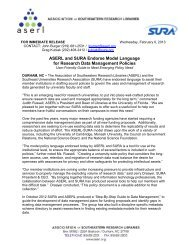 ASERL and SURA Endorse Model Language for Research Data ...