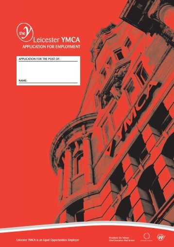 application for employment - Leicester YMCA
