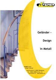 Geländer - Design in Metall - Feiner GmbH