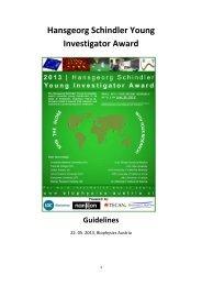 Hansgeorg Schindler Young Investigator Award - Biophysics Austria