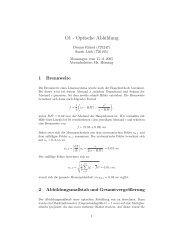 O1 - Optische Abbildung