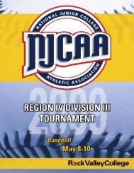 Spring Region Program Baseball mockup - Rock Valley College