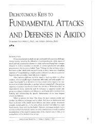 Dichotomous keys to fundamental attacks and defenses in aikido