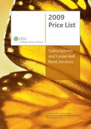 2009 Price List* - CCH Australia