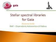 Rosanna Sordo INAF – Osservatorio Astronomico di Padova