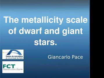 The metallicity scale of dwarf and giant stars.