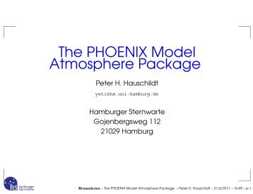 The PHOENIX Model Atmosphere Package - FTP Directory Listing