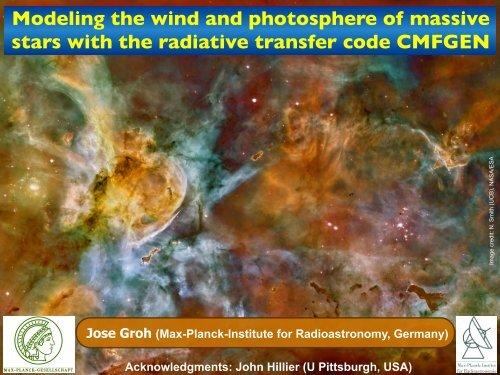CMFGEN - GREAT-ESF Stellar Atmospheres in the Gaia Era ...