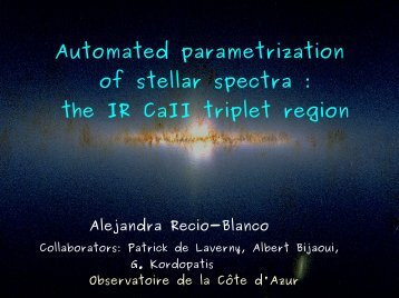 Automated parametrization of stellar spectra : the IR CaII triplet region