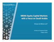 MENA Equity Capital Markets with a Focus on Saudi Arabia MENA ...
