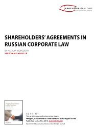 Shareholders' Agreements in Russian Corporate Law