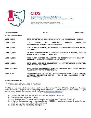 June 1, 2012 - County Commissioners' Association of Ohio