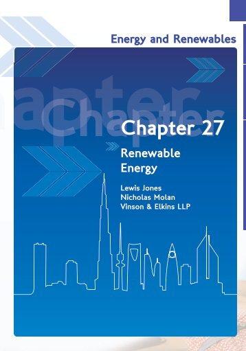 Renewable Energy - Vinson & Elkins LLP