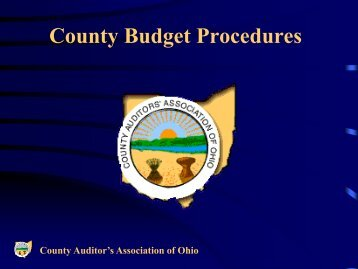 County Budget Procedures - County Commissioners' Association of ...