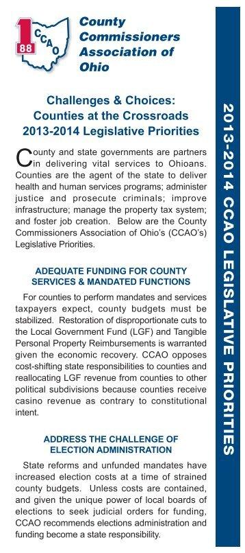Legislative Priorities - County Commissioners' Association of Ohio