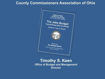 The Jobs Budget: Transforming Ohio for Growth - County ...