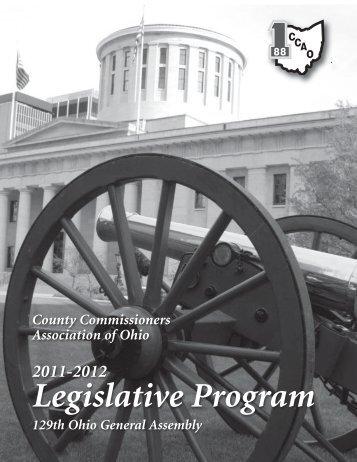 2011-2012 CCAO Legislative Program 2 - County Commissioners ...