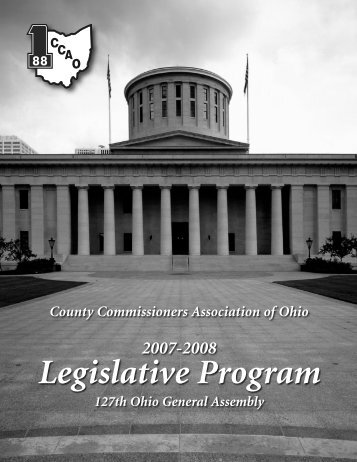 Legislative Program - County Commissioners' Association of Ohio