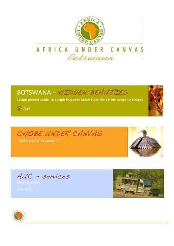 AUC cover - Africa under Canvas