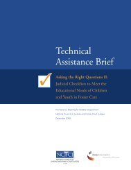 Judicial Checklists - National Council of Juvenile and Family Court ...
