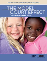 the model court effect - National Council of Juvenile and Family ...