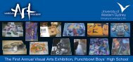 The First Annual Visual Arts Exhibition Invitation (PDF ... - Art Gallery