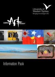Information Pack - UWS Art Gallery