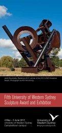 UWS Sculpture Award 2012 Invitation - University of Western Sydney
