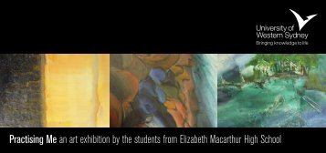 Practising Me Invitation - Art Gallery - University of Western Sydney