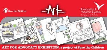 Art for Advocacy Invitation - Art Gallery - University of Western Sydney