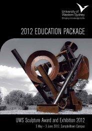 2012 EdUCAtion PACkAgE - Art Gallery - University of Western ...