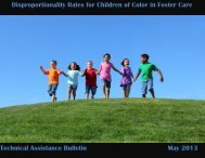Disproportionality Rates for Children of Color in Foster Care