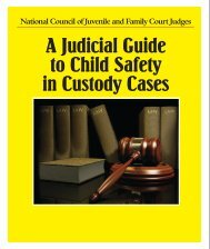A Judicial Guide to Child Safety in Custody Cases - National Council ...