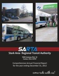 2012 CAFR SARTA - Stark Area Regional Transit Authority