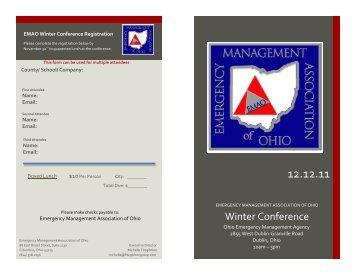 Winter Conference Registration 2011 - Emergency Management ...