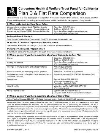 Erisa flat rate 1 2015s - Carpenter funds administrative office ...