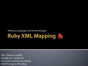 Einführung in Ruby - Marc's Blog - Marc-seeger.de