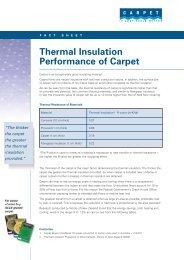 Thermal Insulation Performance of Carpet - Carpet Institute of Australia