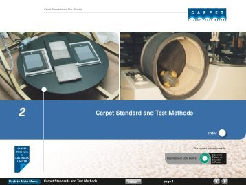 Carpet Standard and Test Methods - Carpet Institute of Australia