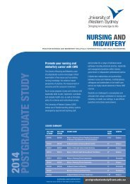 Nursing and Midwifery Course Brochure [PDF ... - Future Students