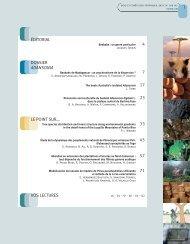 Sommaire - Bois et forêts des tropiques - Cirad