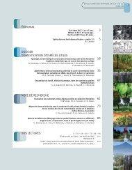 Sommaire et éditorial - Bois et forêts des tropiques - Cirad
