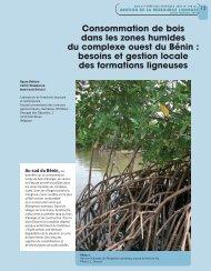 Consommation de bois dans les zones humides du complexe ouest ...